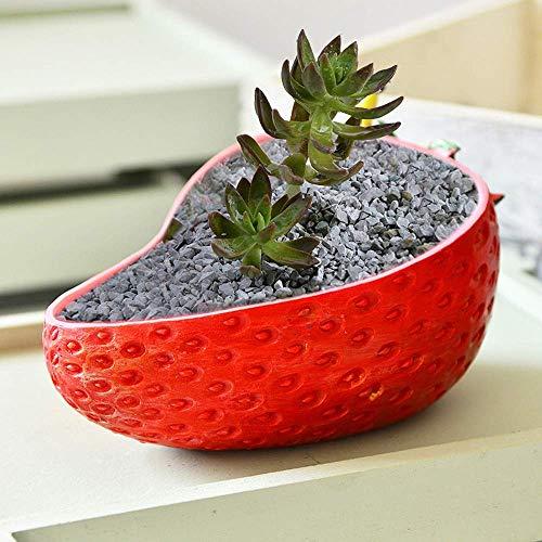 Zeitgenössische Persönlichkeit Erdbeer-Blumentopf Pflanzer Bonsai Home Desktop Gartendekoration Ornament Harz Vase für Garten Wohnzimmer Dekoration