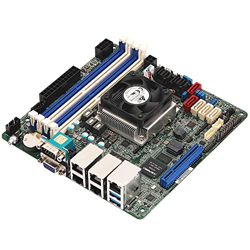 ASRock Rack C3558D4I-4L Atom C3558 Mini ITX Motherboard w/Quad GbE LAN, IPMI, 13 x SATA Connectors