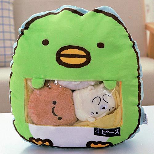 HYL0 EIN Beutel des 8pcs Snack Weiche Plüsch-Spielzeug Bear Cat Monster Plüsch-Kissen-kreativen Anime Dekokissen Cartoon Puppe Spielzeug for Kinder ZZBiao (Color : 4pcs Penguin)