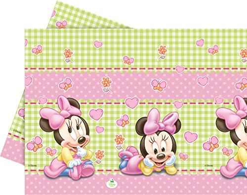 Unique Party 71991 – Disney Baby Minnie Maus Tischdecke, 1,8 m x 1,2 m