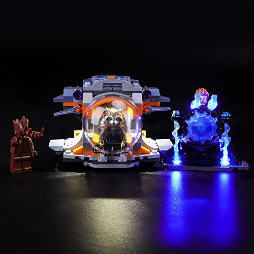 LIGHTAILING Licht-Set Für (Marvel Super Heroes Thors Waffenmission) Modell - LED Licht-Set Kompatibel Mit Lego 76102(Modell Nicht Enthalten)