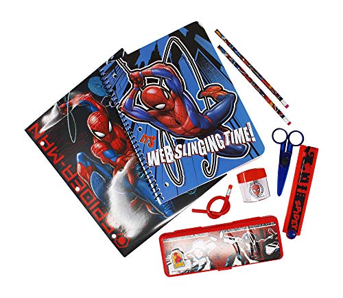 Marvel Spiderman School Supplies Set with Pencil Case, Notebook, Folders & Pencils