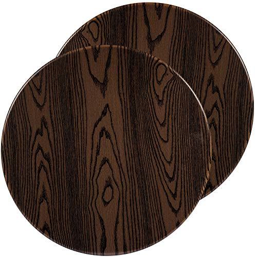 "Flash Furniture 2 Pk. 24"" Round Rustic Wood Laminate Table Top"