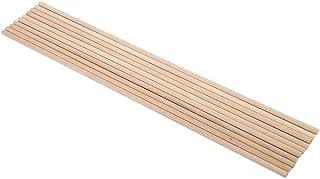 Wooden Dowel Rods, Craft Sticks, 10pcs 30cm Long DIY Wooden Arts Craft Sticks Dowels Pole Rods Sweet Trees Wood Tool 5 Siz...