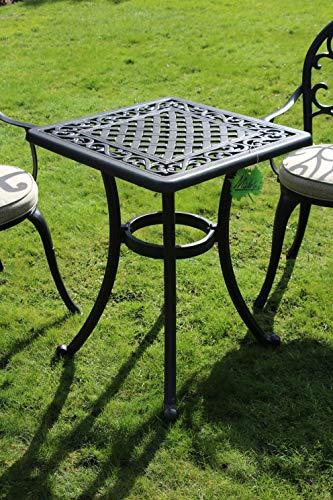 Made for us Table de Jardin en Fonte d\'aluminium avec Peinture résistante  aux UV 54 x 54 cm Hauteur 69 cm