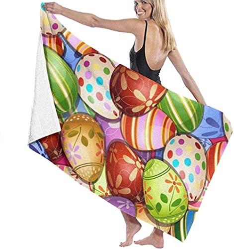 Badetuch Egg Bunny Rabbit Badetuch Unisex Übergroßes Schwimmen Hot Spring Travel Yoga Sport Camping Sonnenliege Baden oder Baden zu Hause 130X80cm