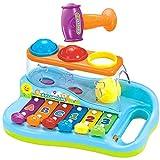 BAKAJI Xilofono con Martello Batti Palline Giocattolo Bambini Centro attività Gioco Prima Infanzia Musicale Giochi di Apprendimento Educativi Neonato 12+ Mesi