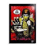Scorpion von Mortal Kombat Videospiels - Original Gerahmt