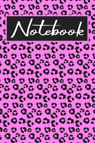 Leopard anotebook: Notebook: 9.6 inches Unlined/Unruled/Plain 110 page Notebook with margin (Unruled Notebook with Margin
