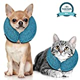 xs dog cone - MIDOG Pet Inflatable Collar for After Surgery,Soft Protective Recovery Collar Cone for Dogs and Cats to Prevent Pets from Touching Stitches, Wounds and Rashes
