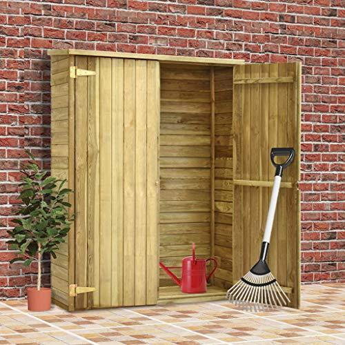 Tidyard Geräteschrank Geräteschuppen Gartenhütte Kiefernholz-Schuppen Geräteschuppen mit Zweiflügeltür, 3 Größen