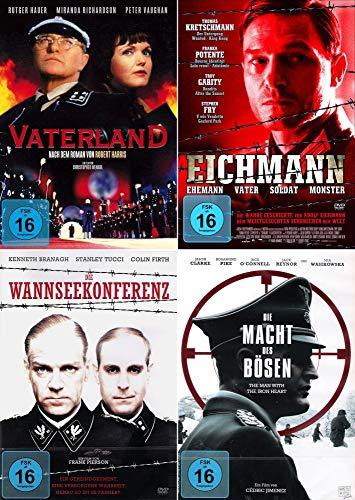 History 4-Filme Edition - Vaterland + Die Wannseekonferenz + Die Macht des Bösen + Eichmann [4er DVD-Set]
