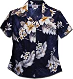 Ladies Hawaiian Shirts Blue The Luau