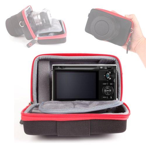 Schutzhülle/Hartschale für SLR-Kamera Nikon 1 J1, J2 Kompakte Systemkamera (10,1 Megapixel) mit ihrem Objektiv Tasche für Zubehör und SD-Karten, für Laptop