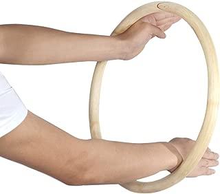 ZooBoo Wing Chun Rattan Ring - NaturalWoodRings Wing Tsun Kung Fu Legs Hand Strength TrainingEquipment Yewen Sau Sticky Ip Man Siu Lum Kung Fu Rings - Rattan 14 inch