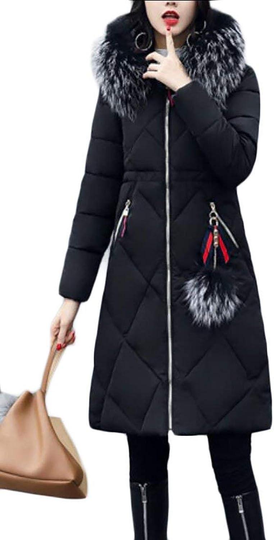 Alion Women Fur Collar Parka Puffer Down Outwear Jackets
