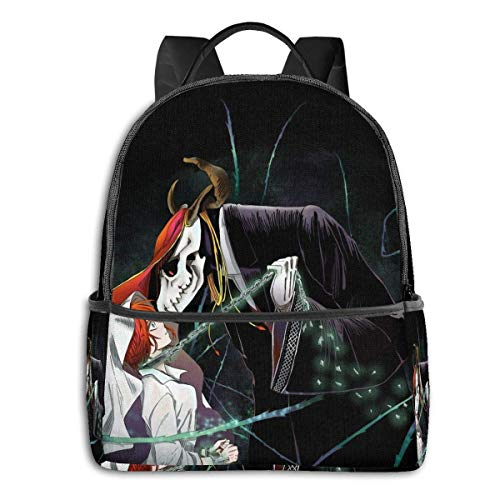 IUBBKI Mochila lateral negra Mochilas informales The Ancient Magus Bride -£¨2£ Student School Bag School Cycling Leisure Travel Camping Outdoor Backpack