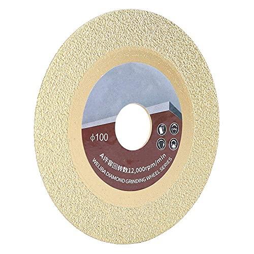 HMHMVM Rueda de Corte, Hoja de Sierra de Diamantes chapada en Titanio 100 mm Disco de Corte de Malla 60 para baldosas de cerámica y cerámica de Vidrio