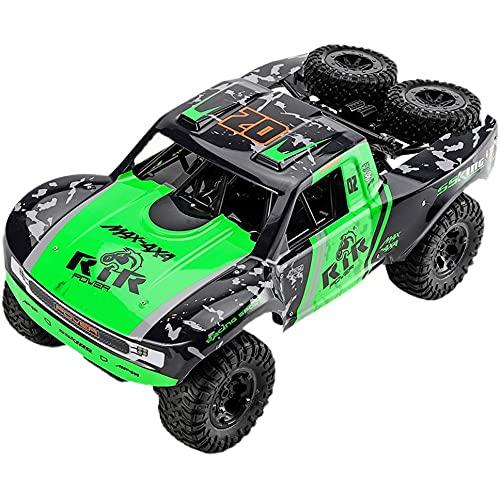Lihgfw 4WD Größere Amphibien-RC-Autos, 2,4 G Drahtloses Wasserdichtes Offroad-RC-Fahrzeug, 50+ Kmh High-Speed-All-Terrain-Kletter-Bigfoot-RC-Auto, Mit 2 * Batterien, 35+ Min. Spielzeit, Geschenke Für