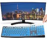 Ultra Thin Keyboard Cover for Logitech K200 K260 K270, Logitech MK200 MK260 MK270 MK275 MK295 Keyboard, Logitech Keyboard Cover - Gradual Blue