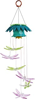 Evergreen Dragonflies Color Changing Flower Top Solar Mobile
