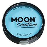 Moon Creations Pro Face & Body Paint Cake Pots Light Blue - Professional Water...