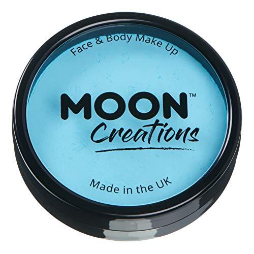 Moon Creations - Professionelle wasseraktivierte Gesichtsfarbe - Hellblau