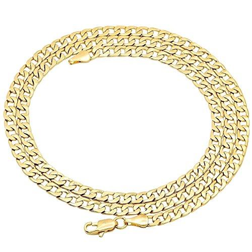 Collana a catena in oro giallo 750 18 kt, larghezza 4,40 mm, lunghezza a scelta e Oro giallo, colore: oro giallo, cod. 18PH04