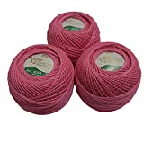 Anchor Mercerized Cotton Crochet Pink 20 g x3