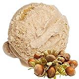 Haselnuss Geschmack Eispulver VEGAN - OHNE ZUCKER - LAKTOSEFREI - GLUTENFREI - FETTARM, auch für Diabetiker Milcheis Softeispulver Speiseeispulver Gino Gelati (Haselnuss, 1 kg)