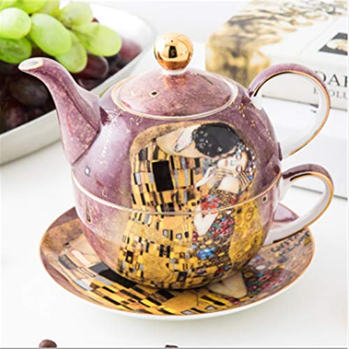 Cast Iron teapot Set Teapot and Cup with Lid and Saucer Teacup and Saucer Set with Beautiful Packaging for Christmas and Housewarming Gift