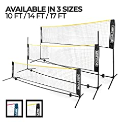 GAME ON! - Play badminton, modified volleyball, tennis, soccer tennis and pickleball on the beach, driveway, backyards and any flat area! Our net is great for parties, camping, and family holidays. TRAVEL READY - With its convenient carrying case, yo...