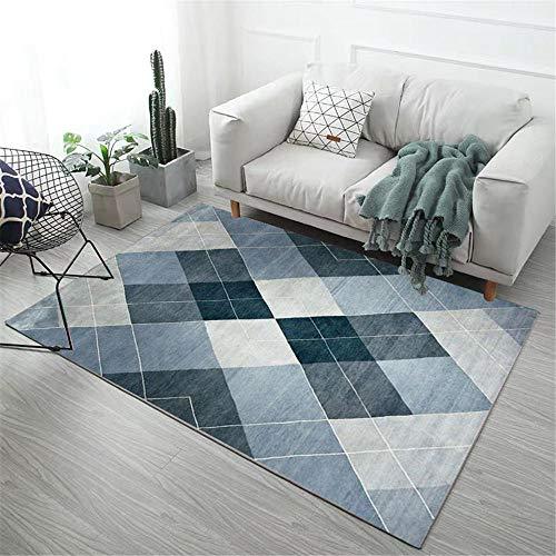 tappeti casa soggiorno Blue. Tappeto soggiorno blu sfocato quadrato durevole tappeto acqua lavata tappeti salotto 60x90cm tappeti scendiletto camera 1ft 11.6''X2ft 11.4''