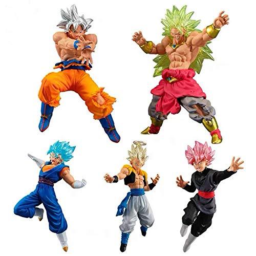 DB Dragon Ball Gashapon Figura VS SP 03 Super Saiyan UI Goku Broly Gogeta Vegetto Rose Goku PVC Figure Toys Figurals Dolls (1 Set(5pcs))