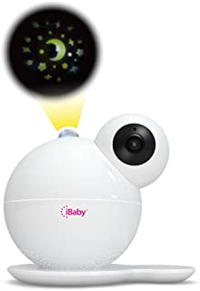 iBaby M7 Video Baby Monitor with Moon and Star Light Show, White