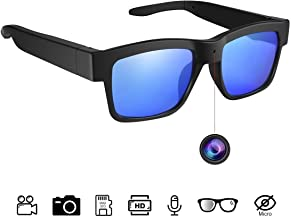 Sunglasses Camera Full HD 1080P, 65 Degree Angle for Outdoor Use,Mini Video Camera with UV Protection Polarized Lens