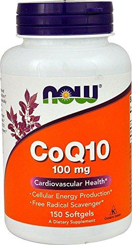 CoQ10 100mg (150 softgels) Now Foods