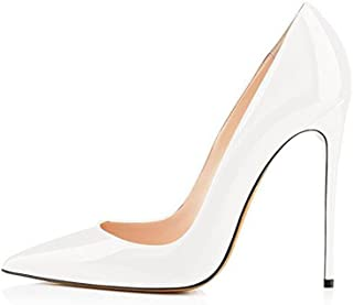 GENSHUO Women Fashion Pointed Toe High Heel Pumps Sexy Slip On Stiletto Party Shoes