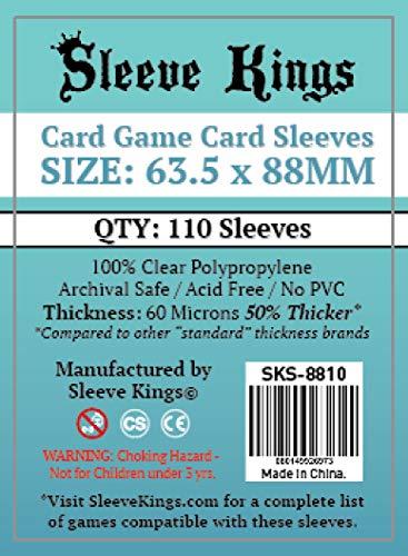Sleeve Kings - Fundas para Cartas (63,5 x 88 mm, 110 Unidades, 60 micras)