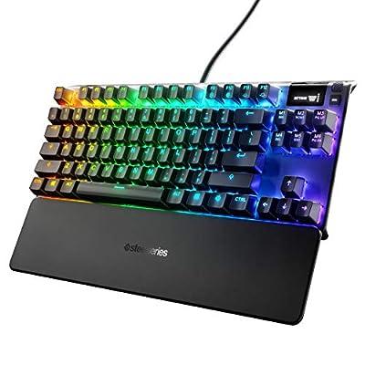 TKL Clavier de Jeu m/écanique Outemu Clicky Blue Switch Rainbow LED r/étro/éclair/é E-Element Z-77 Panneau en Aluminium 87 Touches pour PC Gamer dactylographe