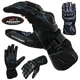 PROANTI Sommer Regen Motorradhandschuhe mit Visierwischer Motorrad Handschuhe - Größe