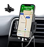 Support Téléphone Voiture Universel, Nouvelle Version, Quntis Support Voiture d'Air Vent pour GPS iPhone X 8 7 Plus Se 6S Samsung Galaxy S6 S7 Blackberry Nexus HTC Motorola Sony