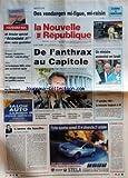 NOUVELLE REPUBLIQUE (LA) [No 17320] du 18/10/2001 - INDRE-ET-LOIRE - DES VENDANGES MI-FIGUE MI-RAISIN -...