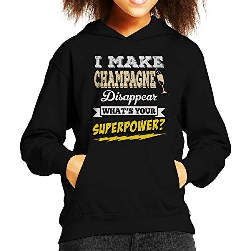 Ik laat Champagne verdwijnen wat je Superpower Sweatshirt met capuchon van je kind is