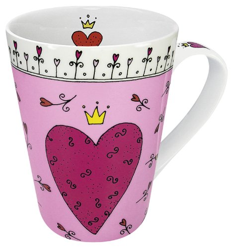 Konitz 13-Ounce Princess of My Heart Mugs, Assorted, Set of 4