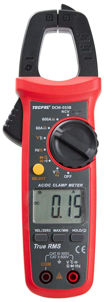 TECPEL DCM-033B 6000 Count Digital NEW before selling ☆ Clamp ACV Free shipping anywhere in the nation DCV DCA ACA Meter