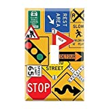 Street Signs Light Switch Cover, Construction Sign Switch Cover, Road Signs Plate Cover, Boys Bedroom Decor, Street Signs, Car Lover TF22