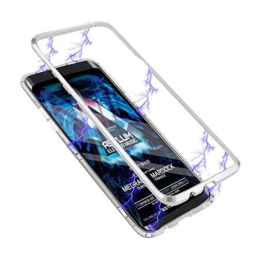 TENGMAO Funda de absorción magnética para Samsung Galaxy Note 10+ 4G/5G, Transparente 360 Vidrio Templado Carcasa Protectora con Marco metálico Compatible con Samsung Galaxy Note 10+ 4G/5G