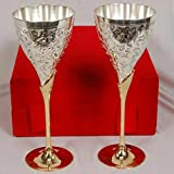 M.G.R.J German Silver Wine glasses (Set of 2)