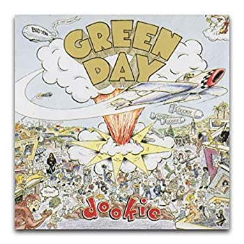Green Day S Album Cover - Dookie Poster Decorative Painting Canvas Wall Art Living Room Posters Bedroom Painting 16 ×16  40*40cm
